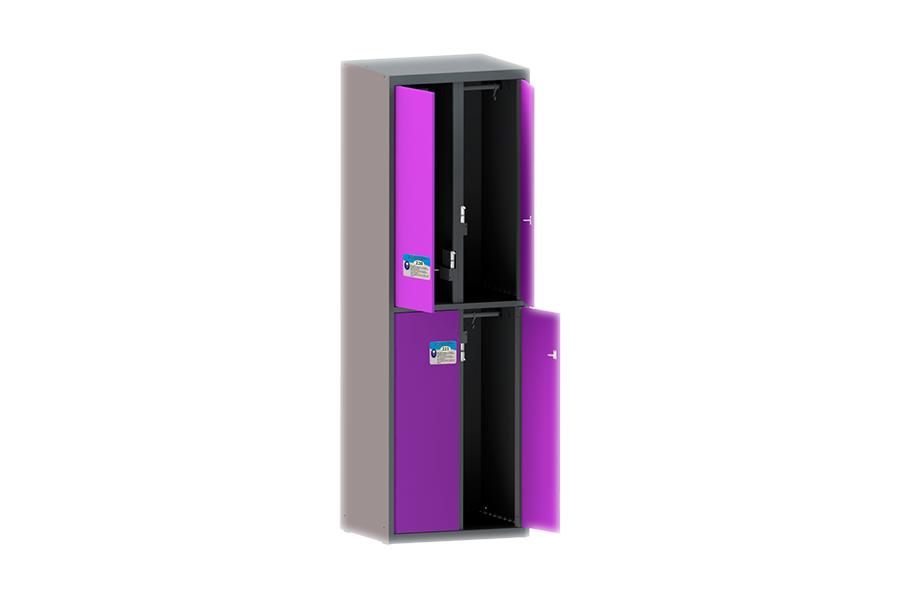 Шкаф одежный (гардеробный) четырехстворчатый ШО 4-E (HPL)