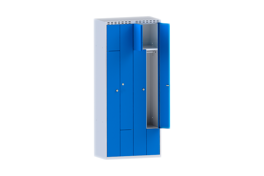 Шкаф одежный (гардеробный) Z-образный ШО 4Z/800